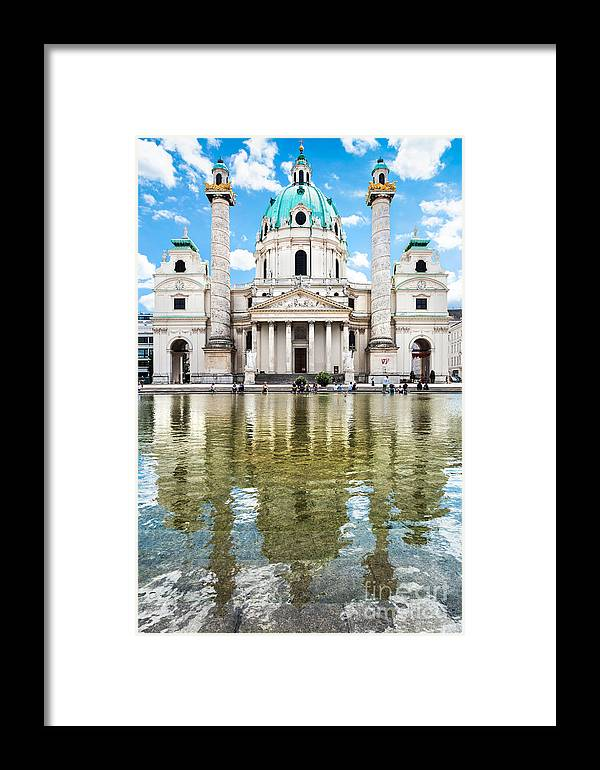 Architecture Framed Print featuring the photograph Saint Charles's Church by JR Photography