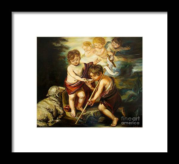 Classic Art Framed Print featuring the painting Saint John Baptist by Silvana Abel
