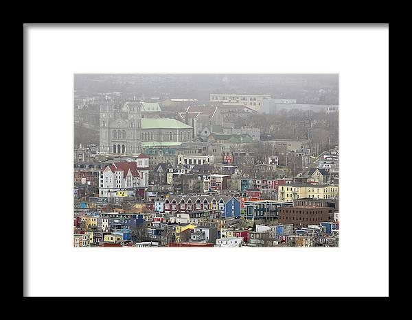 Saint Framed Print featuring the photograph Saint John's. Newfoundland. Canada. by Fernando Barozza