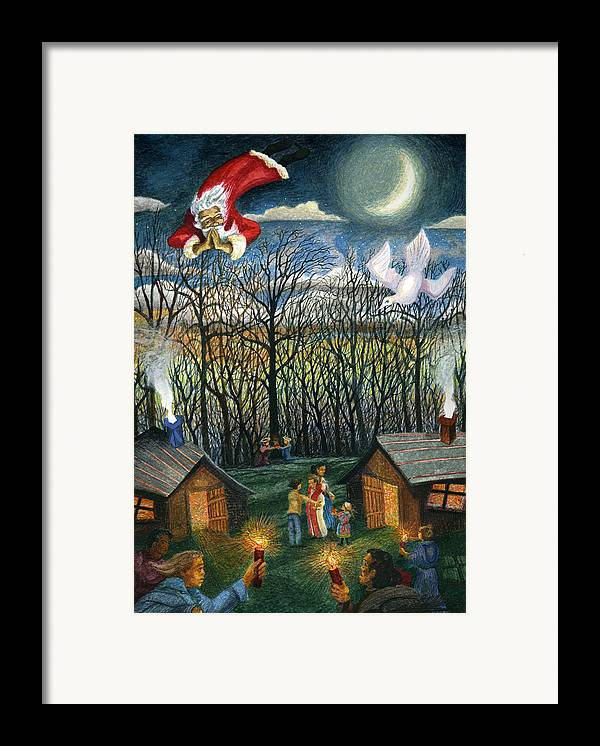 Christmas Framed Print featuring the painting Saint Nicholas Praying For The Recovery Of His Tradition by Craig Gallaway