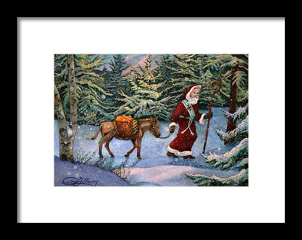 Saint Nicholas Framed Print featuring the painting Saint Nicholas With Oranges by Craig Gallaway