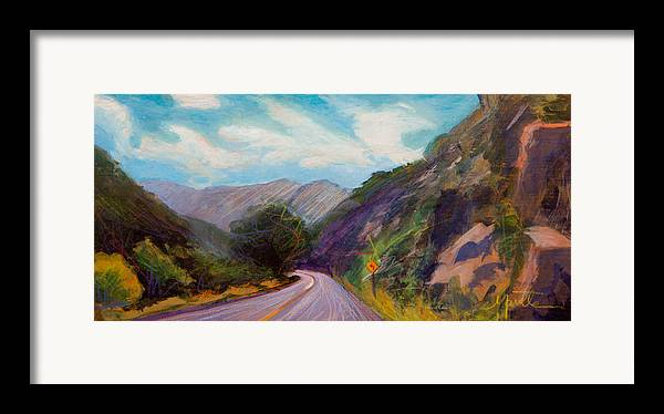 Colorado Framed Print featuring the painting Saint Vrain Canyon by Athena Mantle
