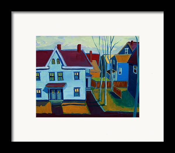 City Scene Framed Print featuring the painting Saints Memorial View by Debra Bretton Robinson
