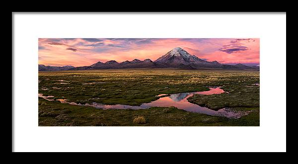 Landscape Framed Print featuring the photograph Sajama by Margarita Chernilova