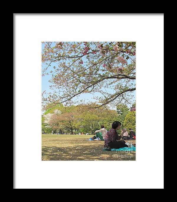 Sakura Time Framed Print featuring the photograph Sakura Time by Seija Talolahti