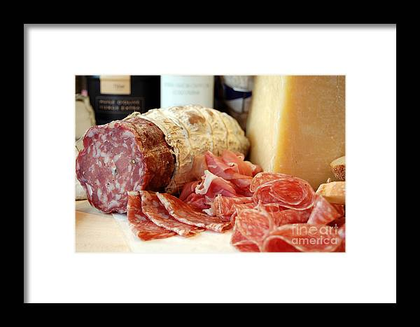 Royalty Free Framed Print featuring the photograph Sliced Deli Meat by Rosemarie Morelli