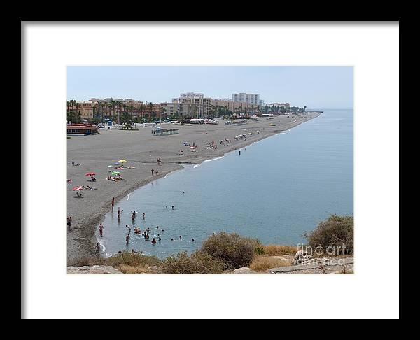 Salobrena Framed Print featuring the photograph Salobrena Beach by Phil Banks