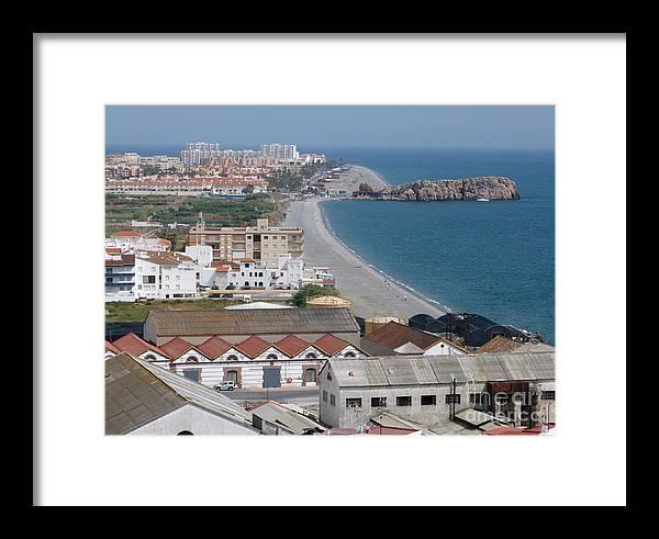 Salobrena Framed Print featuring the photograph Salobrena Coastline by Phil Banks