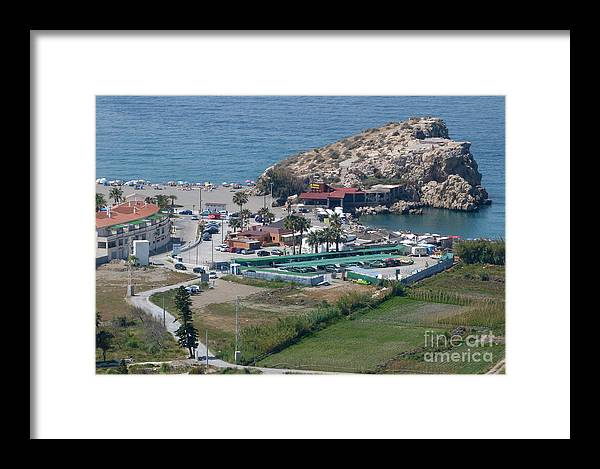 Salobrena Framed Print featuring the photograph Salobrena Rock by Phil Banks