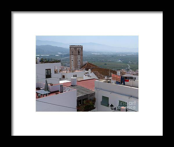 Salobrena Framed Print featuring the photograph Salobrena Rooftops by Phil Banks
