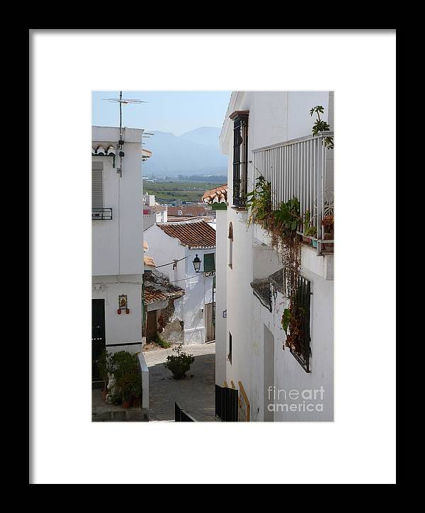 Salobrena Framed Print featuring the photograph Salobrena Street by Phil Banks
