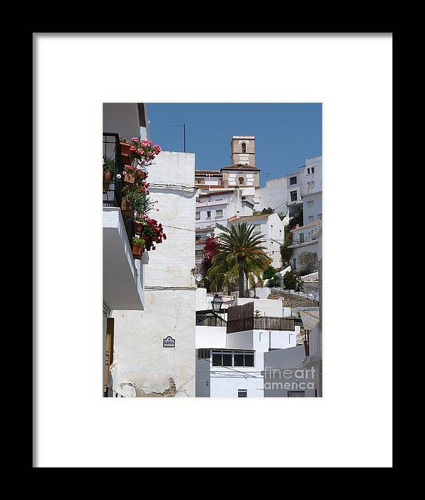 Salobrena Framed Print featuring the photograph Salobrena Town by Phil Banks