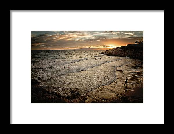 Catalonia Framed Print featuring the photograph Salou Sunset by Michelle Mcmahon