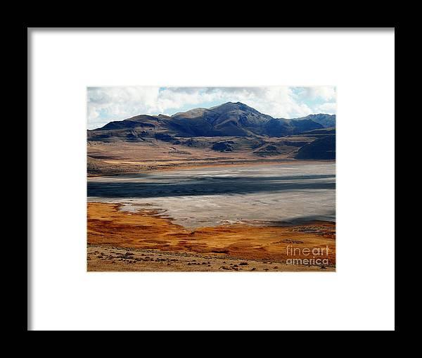 Salt Lake City Framed Print featuring the photograph Salt Lake City Antelope Island by Jennifer Craft