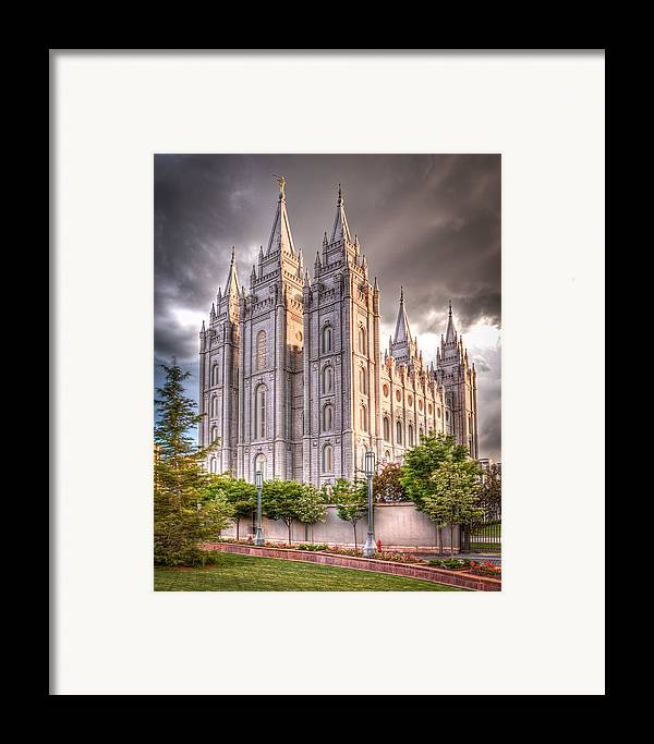 Temple Framed Print featuring the photograph Salt Lake Temple by Niels Nielsen