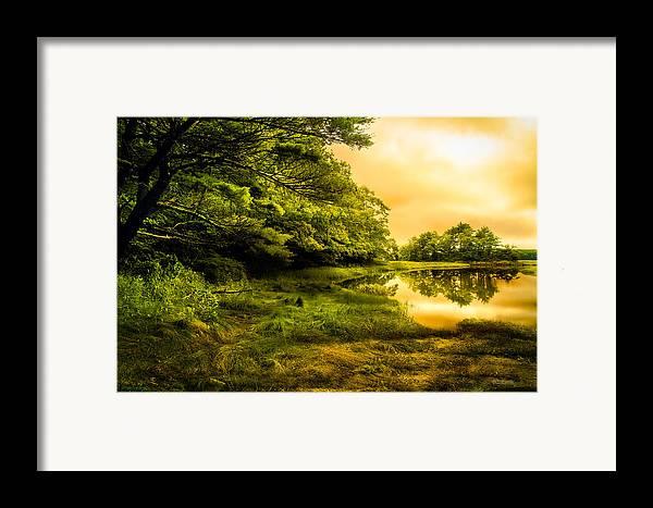 Bob Orsillo Framed Print featuring the photograph Salt Marsh Kittery Maine by Bob Orsillo