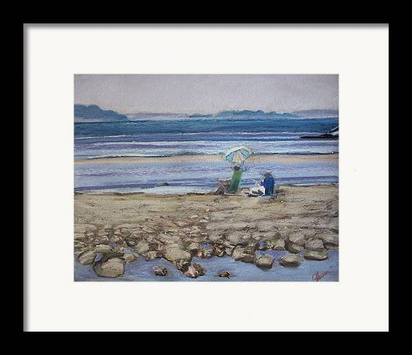 Mid-coast Maine Framed Print featuring the pastel Saltair by Grace Keown