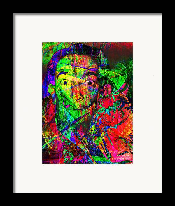 Celebrity Framed Print featuring the photograph Salvador Dali 20130613 by Wingsdomain Art and Photography