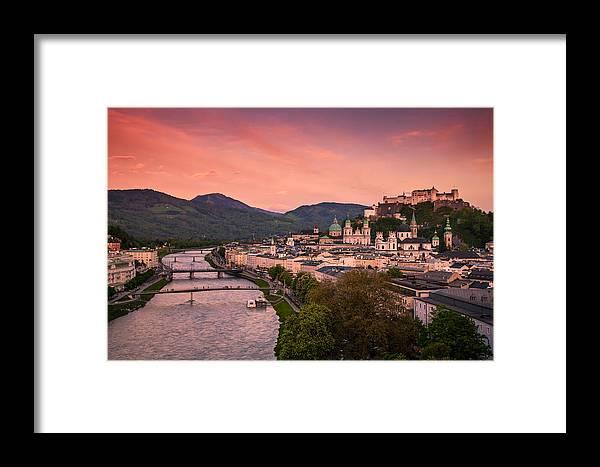 Salzburg Framed Print featuring the photograph Salzburg 02 by Tom Uhlenberg