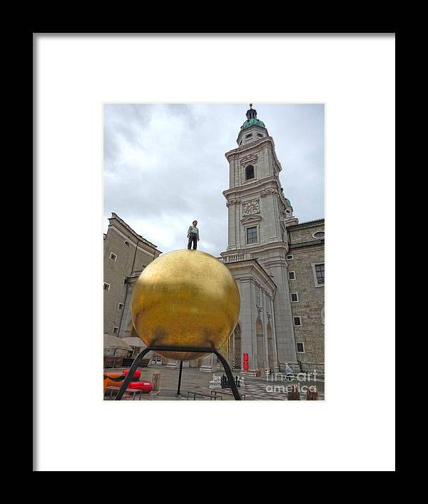 Salzburg Modern Art Framed Print featuring the photograph Salzburg Modern Art by Gregory Dyer
