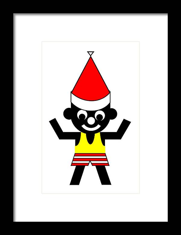 Sam Wishes You A Merry Christmas Framed Print featuring the digital art Sam wishes you a Merry Christmas by Asbjorn Lonvig