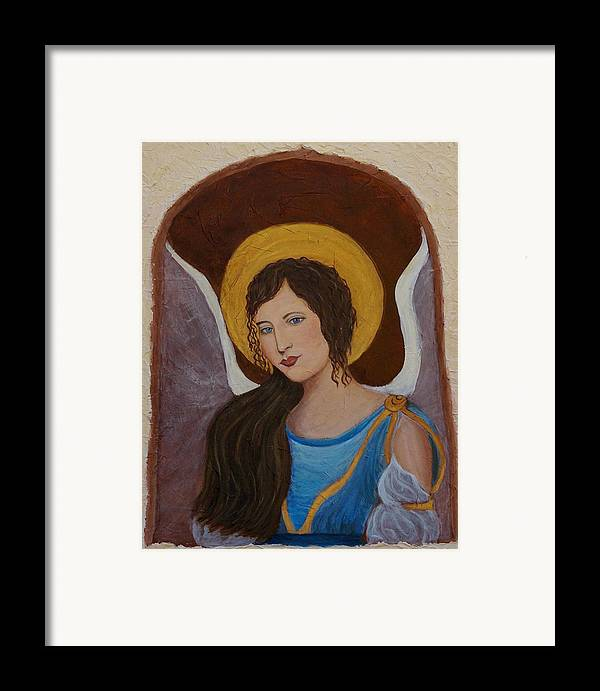Angel Framed Print featuring the painting Samantha An Earthangel by The Art With A Heart By Charlotte Phillips