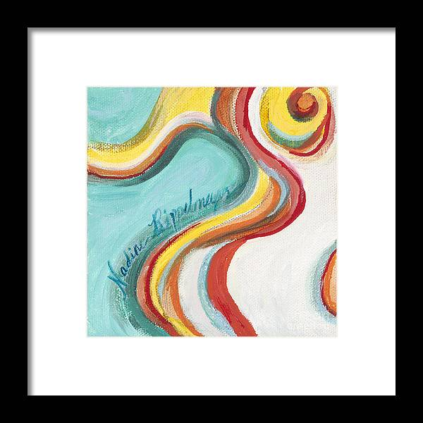 Dance Framed Print featuring the painting Samba by Nadine Rippelmeyer