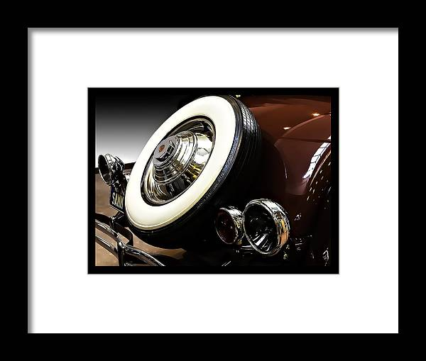 Tire Framed Print featuring the photograph Sammy's Spare by Nancy Marie Ricketts
