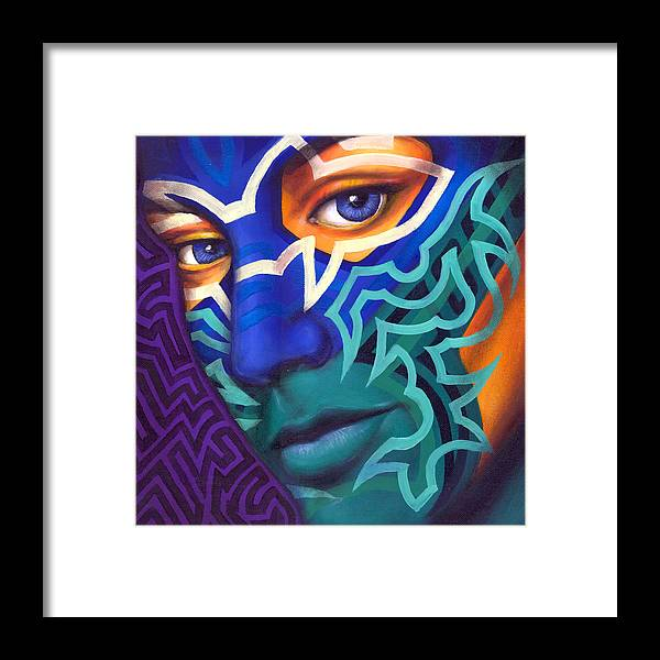 Colorful Framed Print featuring the painting Samnation10-04 by Sam Jennings