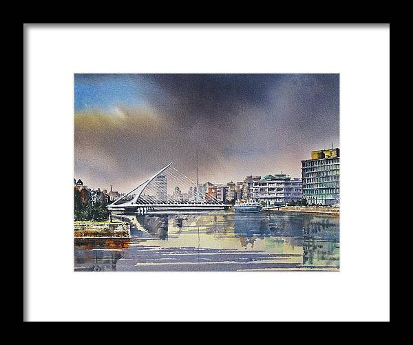 Dublin Framed Print featuring the painting Samuel Beckett Dublin by Roland Byrne