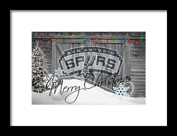 Spurs Framed Print featuring the photograph San Antonio Spurs by Joe Hamilton