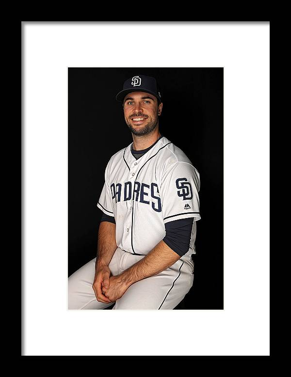 Media Day Framed Print featuring the photograph San Diego Padres Photo Day by Patrick Smith
