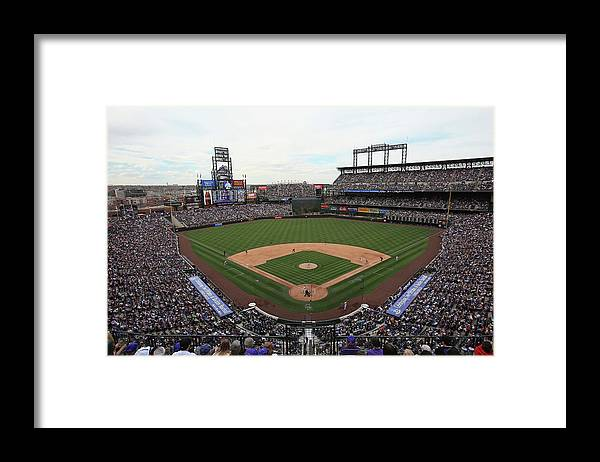 National League Baseball Framed Print featuring the photograph San Diego Padres V Colorado Rockies by Doug Pensinger