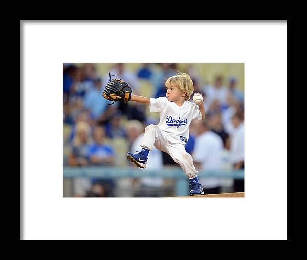 California Framed Print featuring the photograph San Diego Padres V Los Angeles Dodgers by Harry How