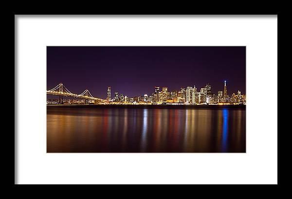San Francisco Framed Print featuring the photograph San Francisco At Nights by Daniel Czerwinski