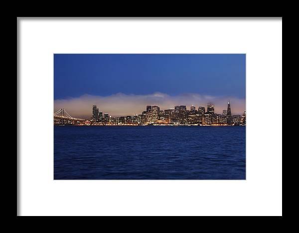 San Francisco Skyline Framed Print featuring the photograph San Francisco Bay by Dan Peak