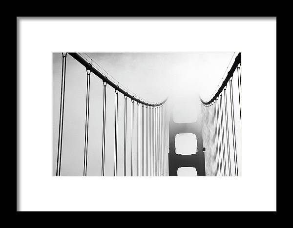 1930s Style Framed Print featuring the photograph San Francisco, California, Usa-fog by Keenpress