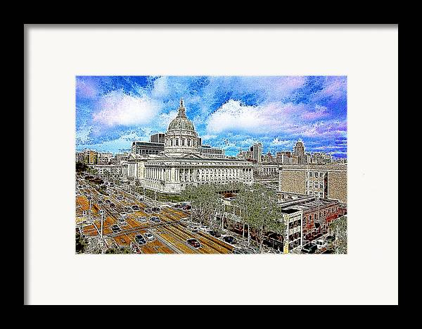 San Francisco Framed Print featuring the photograph San Francisco City Hall 5d22507 Photoart by Wingsdomain Art and Photography