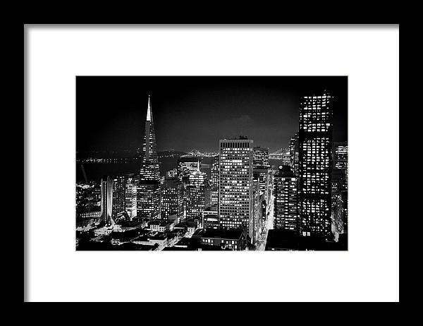 San Francisco Framed Print featuring the photograph San Francisco City View by Todd Hartzo
