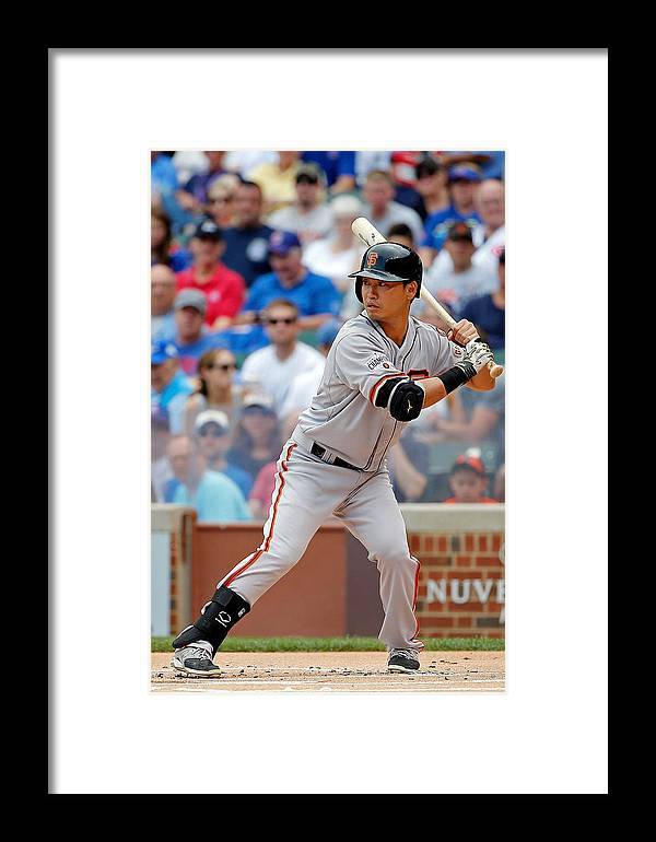 People Framed Print featuring the photograph San Francisco Giants V Chicago Cubs by Jon Durr