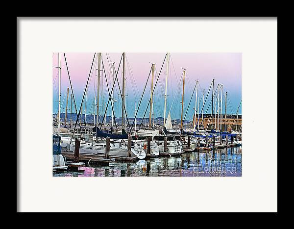 San Francisco Harbor At Pier 39 Framed Print featuring the photograph San Francisco Harbor At Pier 39 by Artist and Photographer Laura Wrede