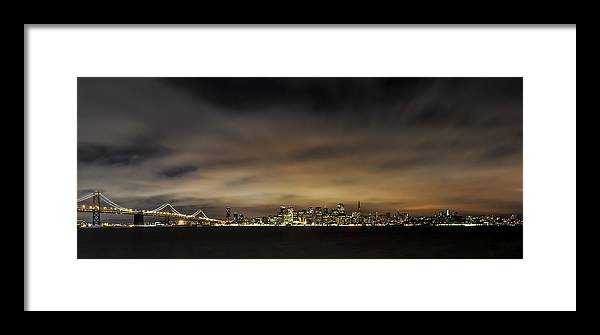 America Framed Print featuring the photograph San Francisco Nightscape by Gej Jones