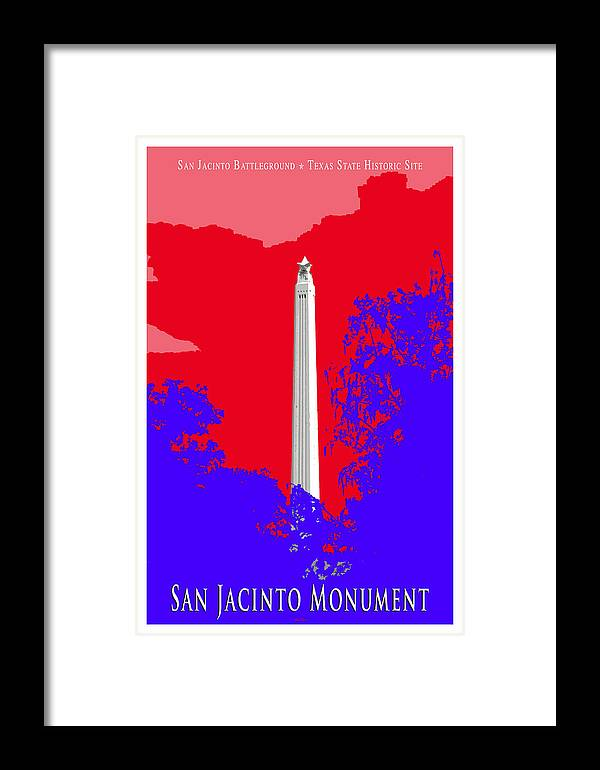 History Framed Print featuring the photograph San Jacinto Monument Red White Blue by Robert J Sadler