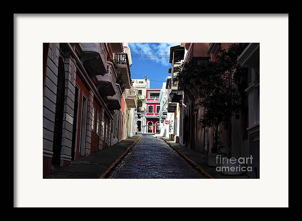 San Juan Alley Framed Print featuring the photograph San Juan Alley by John Rizzuto