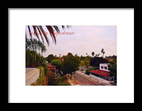 San Juan Capistrano Framed Print featuring the photograph San Juan Capistrano by Timothy OLeary