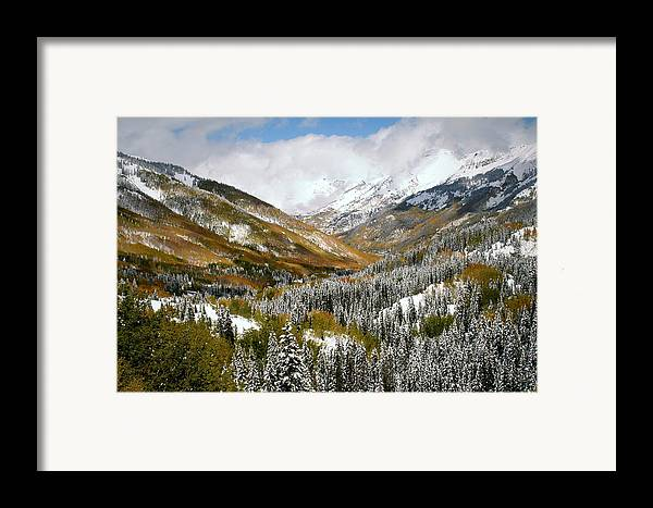 San Framed Print featuring the photograph San Juan Mountains After Recent Snowstorm by Jetson Nguyen