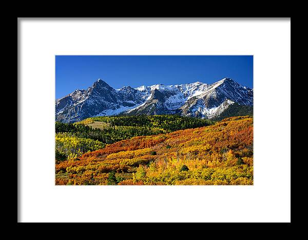 Colorful Landscape Framed Print featuring the photograph San Juan Mountains Color Burst by Rendell B