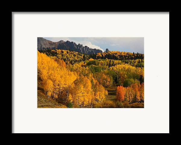 San Framed Print featuring the photograph San Juan Mountains In Autumn by Jetson Nguyen