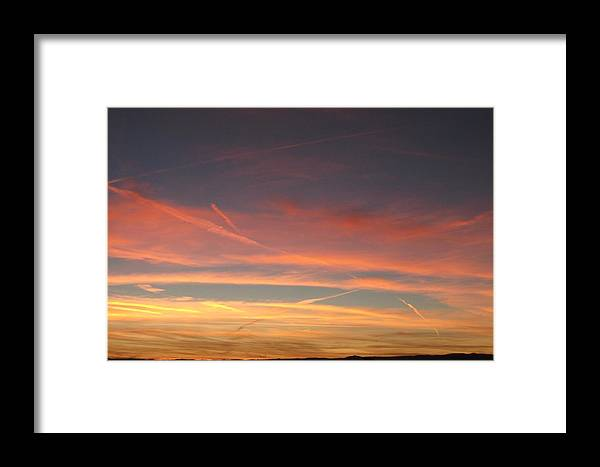 Sky Framed Print featuring the photograph San Luis Sunset by Debbie Westermeyer