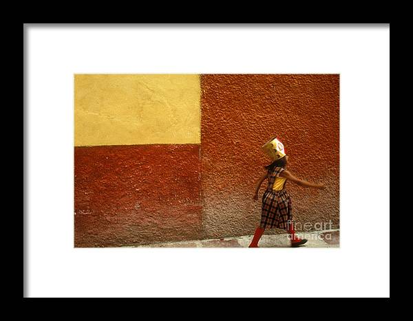 Mexico Framed Print featuring the photograph San Miguel Girl San Miguel De Allende Mexico by John Mitchell